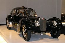 Bugatti Type 57 Atlantic line.  Only four were made.  Only two have survived.