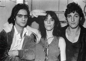 Jimmy Iovine, Patti Smith & Bruce....what a classic shot!