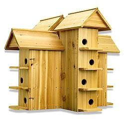 Safe Wooden Purple Martin House