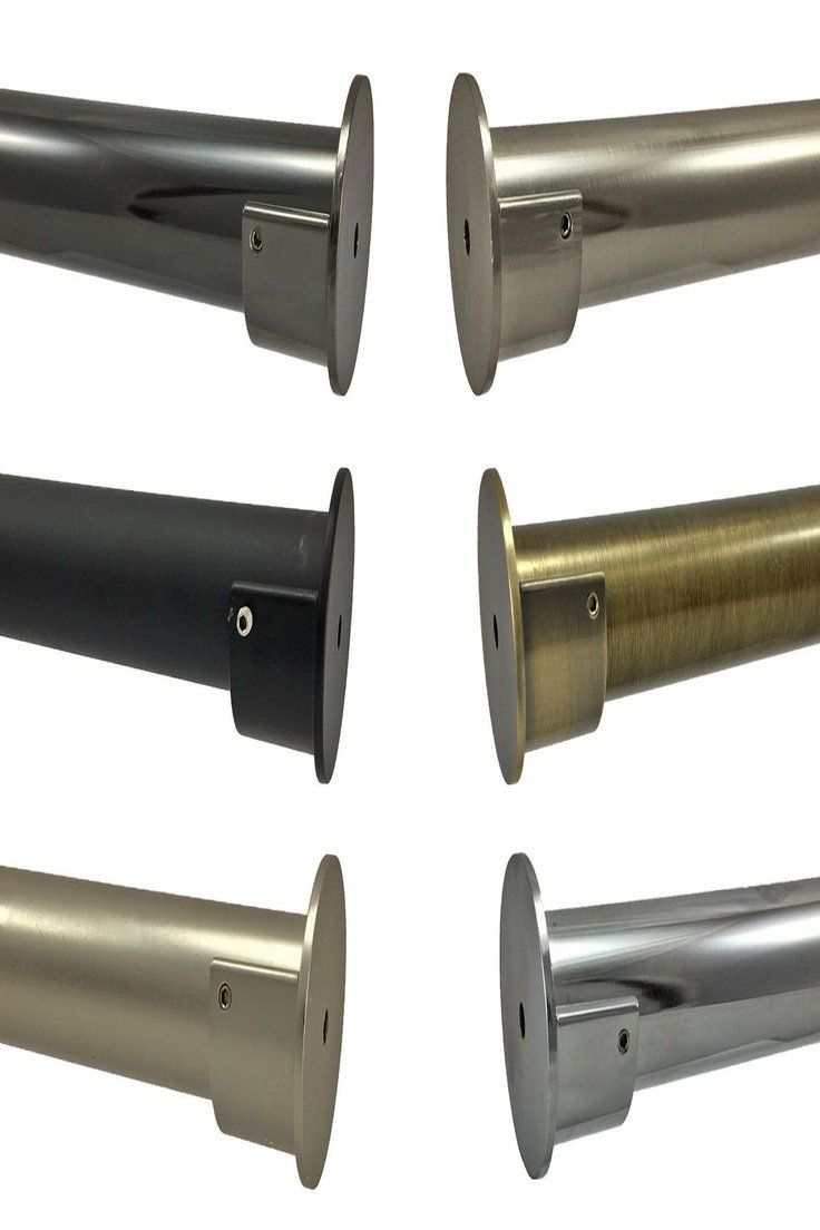 Details About 28mm Complete Eyelet Metal Curtain Pole Recess Wall
