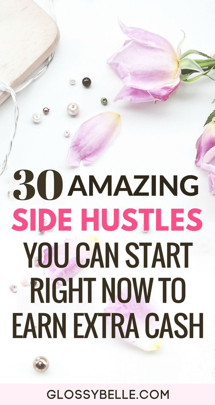 30 Amazing Side Hustles You Can Start Right Now To Earn Extra Cash // Whether you're saving money for a trip, retirement, or to finally quit your 9-5 desk job, here are 30 easy side hustles you can start today to earn extra cash & diversify your income stream. girl boss | side hustle | earn extra money