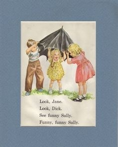 Dick and Jane books...how I learned to read in the 60s!