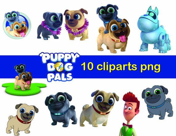 10 Puppy Dog Pals Character Clipart Printable Png Digital