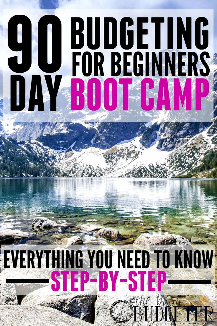 90 Day Budgeting for Beginners Boot Camp. This is amazing. I just cried reading it. I need this so bad. I'm hopeless trying to stick to a budget and having everything laid out step by step is making me super excited to rock our new budget!