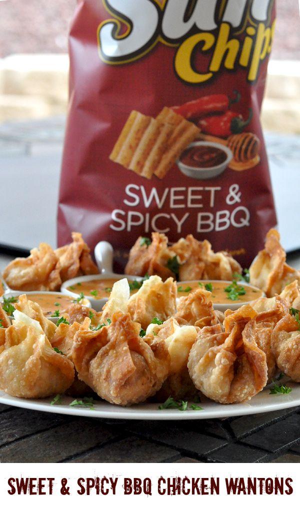 SunChips® Sweet & Spicy BBQ Chicken Wantons Recipe