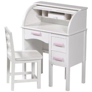 i had a desk like this when i was a kid but it was dark brown wood!! ooohhh the memories of playing school/work!!    Guidecraft Jr. Roll Top Desk