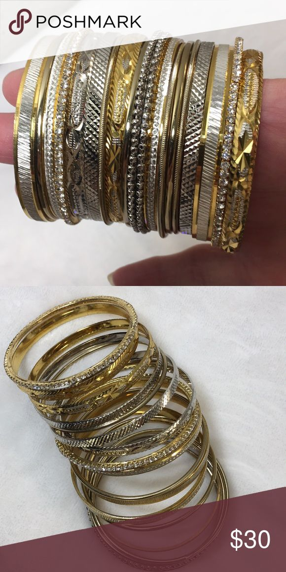Excellent Condition Amrita Singh Bangle Bangle Excellent Condition Amrita Singh Calpyso Bangle Bangle Made in India Silver and Gold  Size 6 inches Amrita Singh Jewelry Bracelets