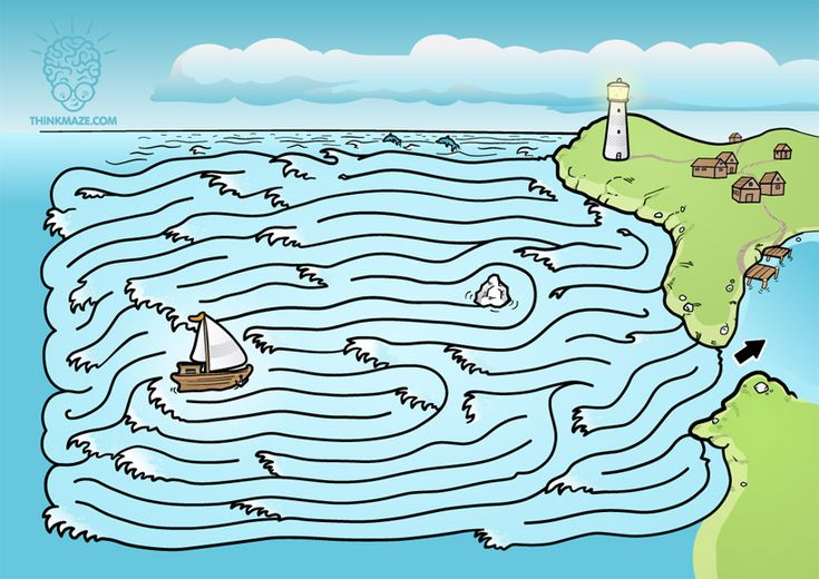 Weather is getting worse! Help fisherman return to the bay safely. CLICK on the picture to download the PDF maze!    Or use black and white maze you can pri