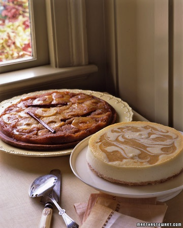 """""""Pumpkin Pie"""" Cheesecake - Martha Stewart Recipes. Will definitely try with pumpkin filling, not butternut squash as suggested."""