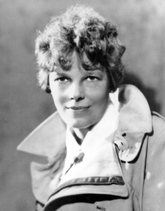 Amelia Earhart The one time it's okay to pop your collar: if you have a killer coat.