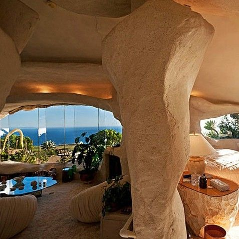 Dick Clark's house in Malibu. Fantastic architecture for those who love nature's more... comfortable side.