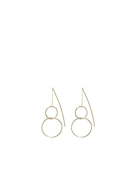 Double Circle Drop Earring from @veronikamaine.  #earring #veronikamaine #jewellery
