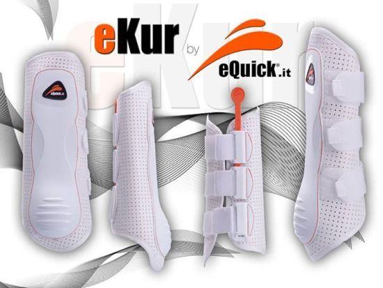 eQuick Ekur innovation - la guêtre de dressage qui s'enlève en un mouvement - ultra légère - aération maximale existe en noir - dressage boots which removes in one motion - ultra light - maximum ventilation available in black