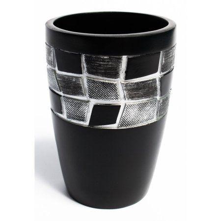 Popular Bath Mosaic Stone Black Bath Collection Bathroom Tumbler Cup - Walmart.com
