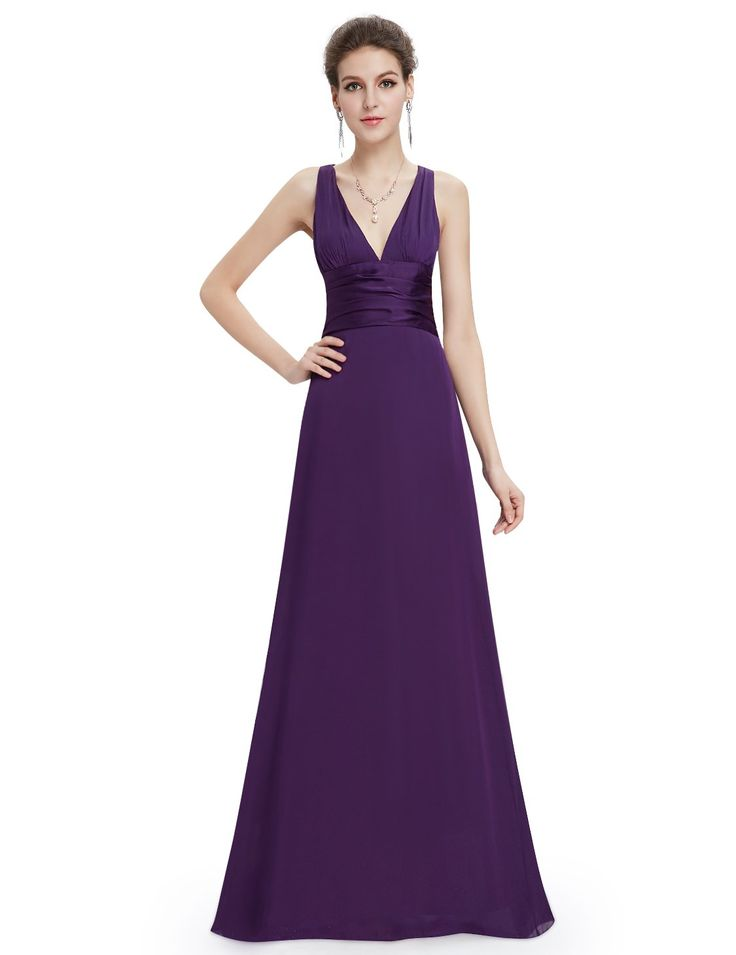 Ever Pretty Trailing V-neck Ruffles Cross Back Evening Party Dress 09008 at Amazon Women's Clothing store: