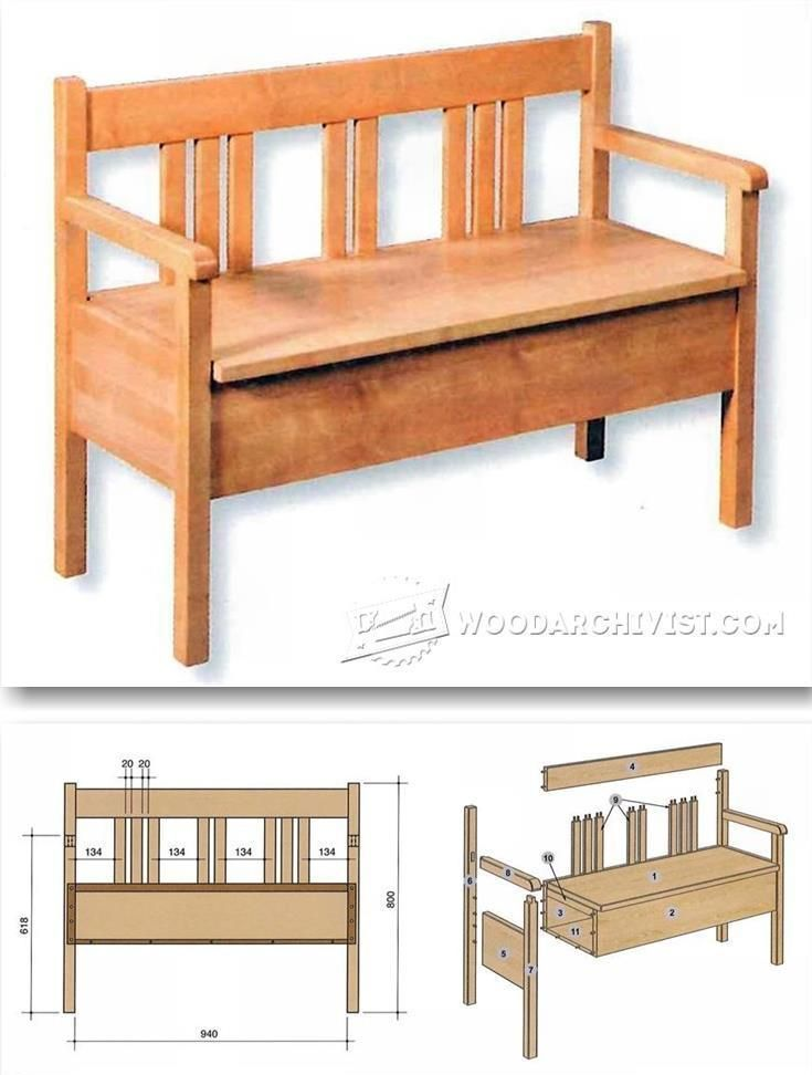 Bench Plans - Furniture Plans and Projects | WoodArchivist.com