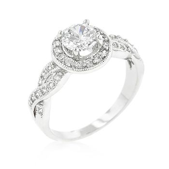 Round Cut Halo Engagement Ring. I love rings that incorporate the infinity sign! <3