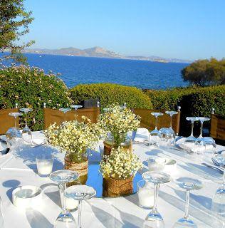 GREEK WEDDING FLOWERS : ISLAND VARKIZA WEDDINGS
