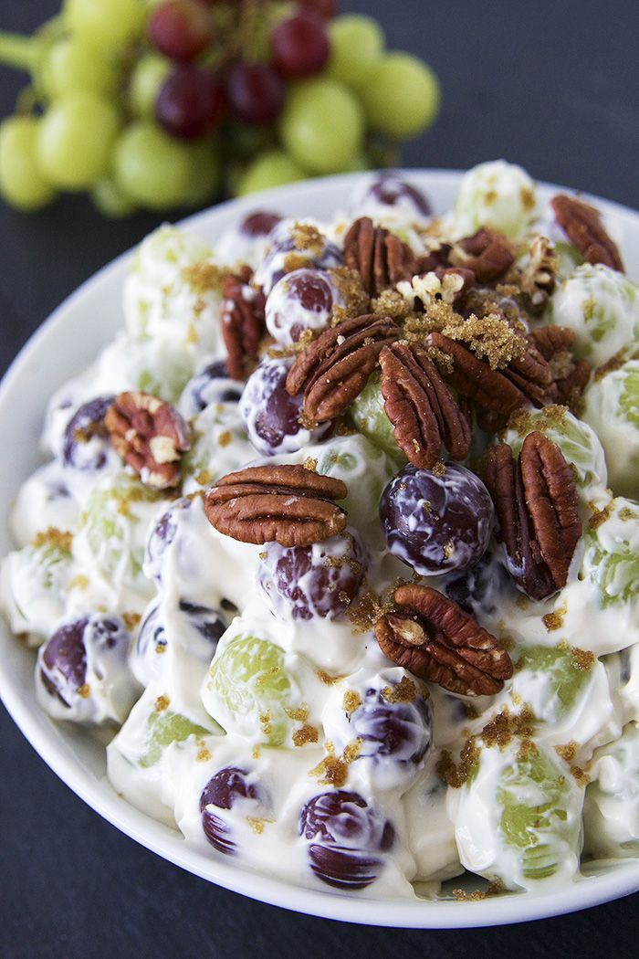 Creamy Grape Salad. This Creamy Grape Salad is one of the most addicting fruits salads ever. Creamy Grape Salad is a quick and easy recipes. Creamy Grape Salad is fruit salad for summer.