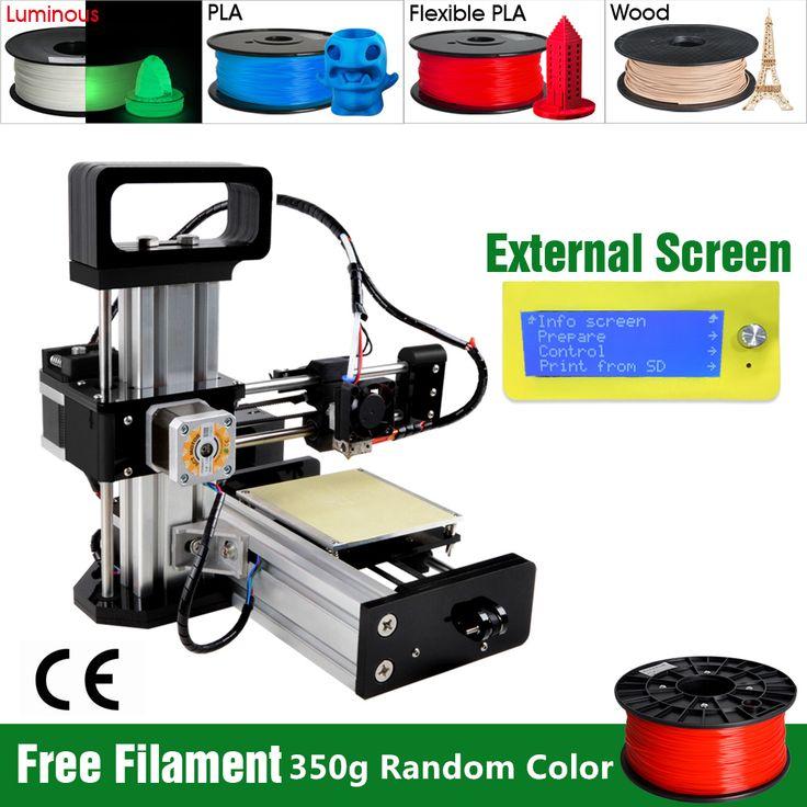 Aliexpress.com: Acheter 2015 nouvelle arrivée pré assemblée Mini 3D imprimante Kit avec le Support de l'écran LCD 4 Materails Borlee Impressora 3D livraison gratuite de 3D Printers fiable fournisseurs sur Hitop
