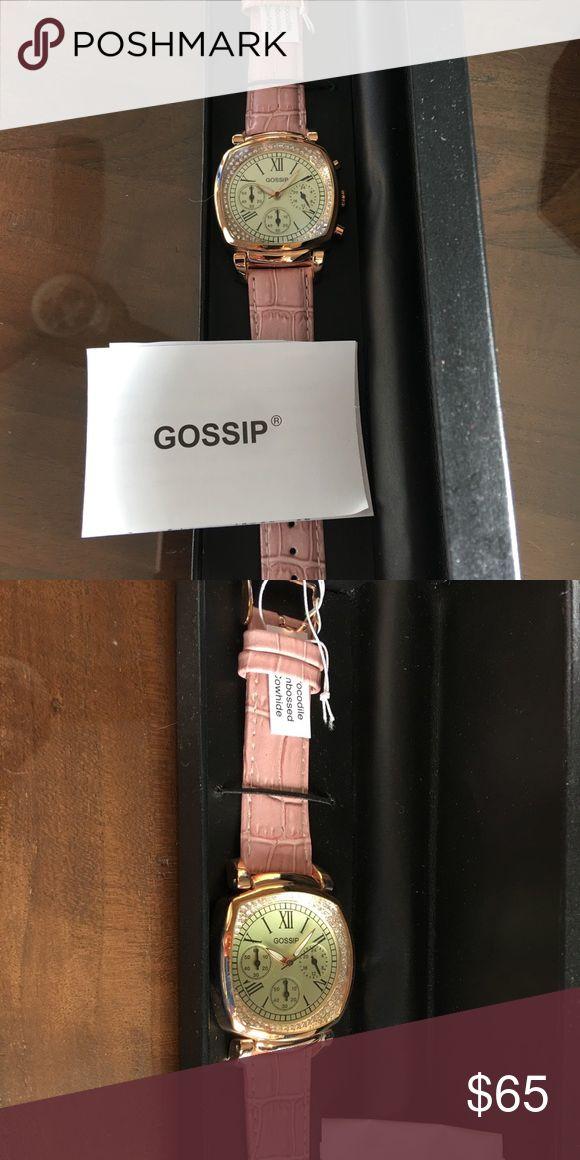Gossip Watch BRAND New Gossip Bramd Mauve colored Strap large ladies watch. Brand new. Never worn. Includes box Jewelry