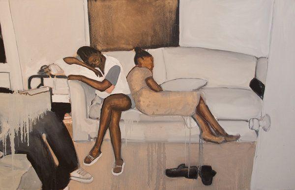 irenelichtensteinblog: Noah Davis, Untitled, 2015, oil on canvas (Noah Davis/The Underground Museum)
