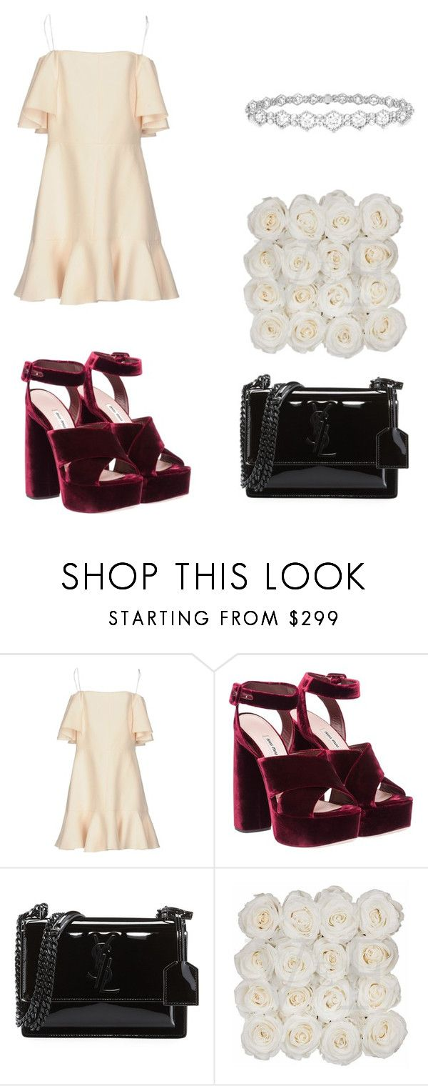 """""""Untitled #223"""" by nuage-orage on Polyvore featuring Valentino, Miu Miu, Yves Saint Laurent and Epoque"""