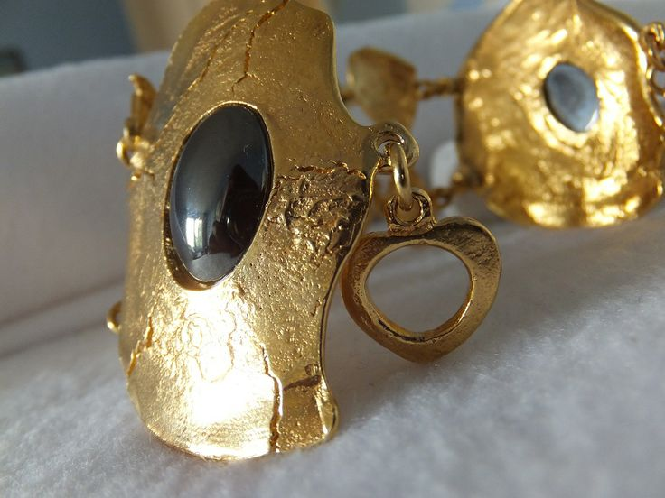 Bracelet doré et hématite