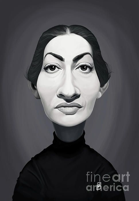 Maria Callas art | decor | wall art | inspiration | caricature | home decor | idea | humor | gifts