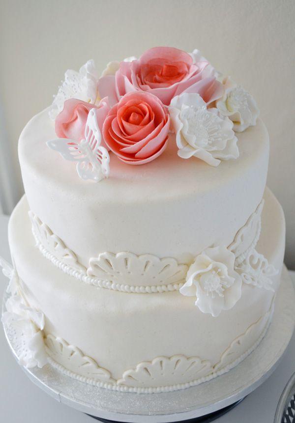 Detaljer bröllopstårta.