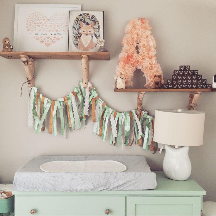 Lullaby Land Nursery Decorating Ideas: Woodland Themed Nursery: Baby Girl, Pottery Barn, Target