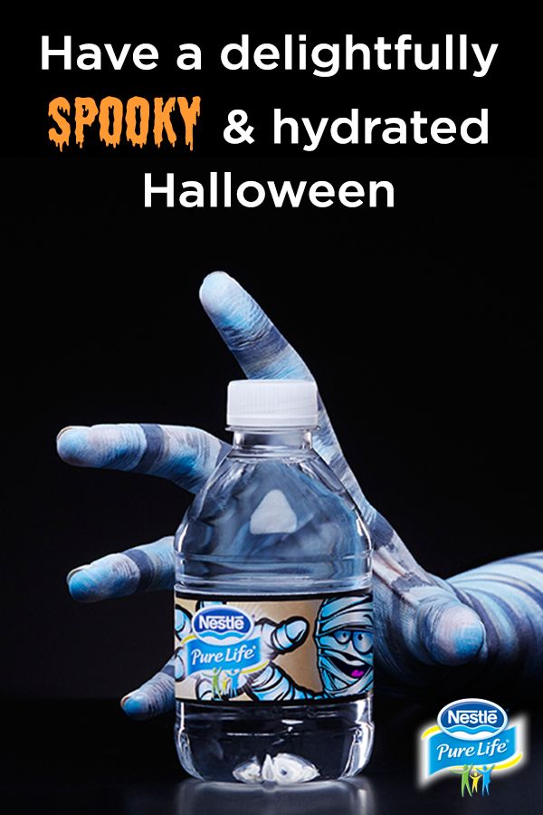 Nestlé® Pure Life® Limited Edition Share-a-Scare™ Halloween bottles are the perfect size for trick-or-treating, making it easy for kids to stay hydrated throughout the night. Order yours now.