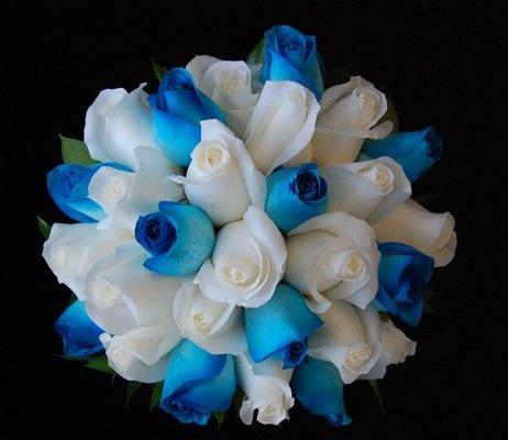 Turquoise wedding bouquet