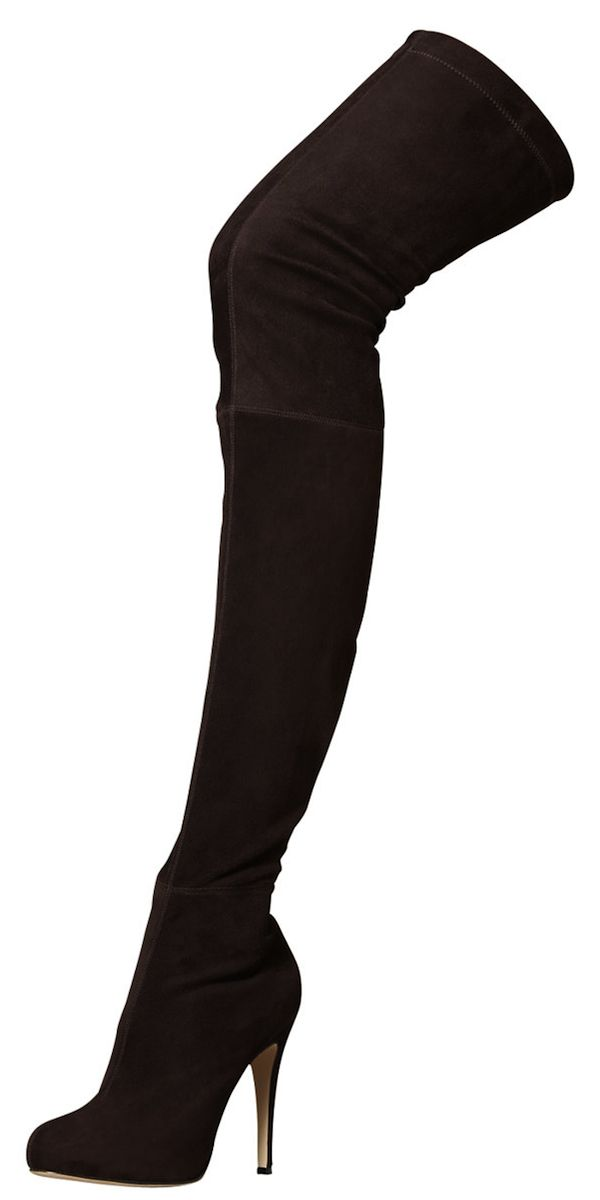 Brian Atwood Suede Over the Knee Boots