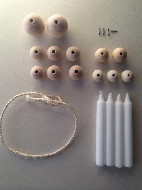 caractériELLE: DIY : Bougeoir scandinave en perle de bois..