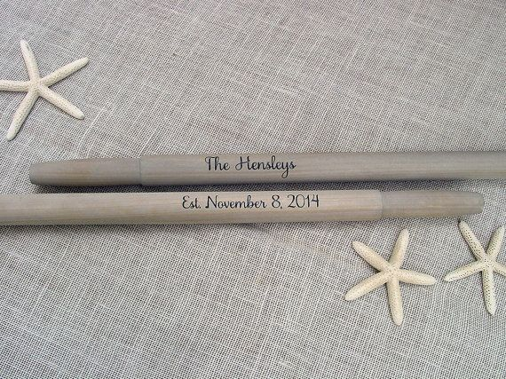 """Personalized 59"""" Driftwood Stained Oars Pair(2) for Nautical Wedding Guest Book / Lake Wedding / Beach Wedding / Rustic / Canoe Paddle #nautical #nauticaldecor #nauticalwedding #alternativeweddingguestbookpaddle #personalizedwedding #canoepaddle #paddle #oar #weddingguestbook"""