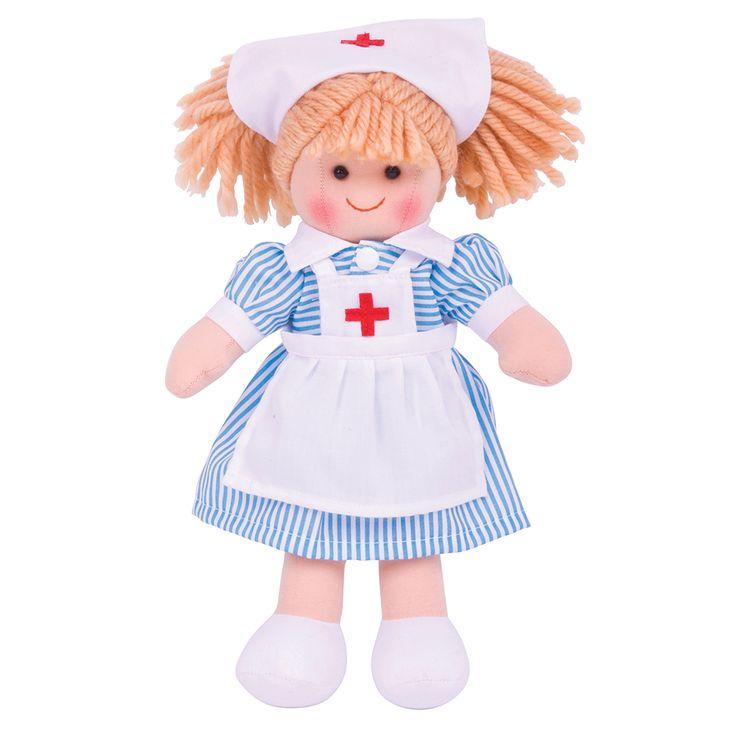 Maak kennis met Verpleegkundige Nancy! De poppen van BigJigs zijn erg schattig met een fijne zachte stof.Verpleegkundige Nancy draagt een mooiverpleegkundige jurkje. De kleding vanVerpleegkundige Nancy kan aan- en uitgetrokken worden en is met de hand uitwasbaar. Voldoet aan de huidige Europese veiligheidsnormen. Hoogte: 28cmBreedte: 18cmGewicht: 120 gram - BigJigs Pop Verpleegkundige Nancy  28cm