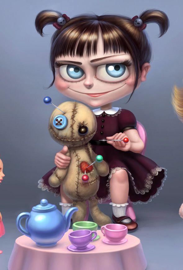tea party by Ekaterina Frolova, via Behance