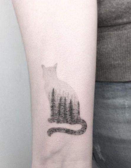 Cat Tattoo on Wrist by Jakub Nowicz