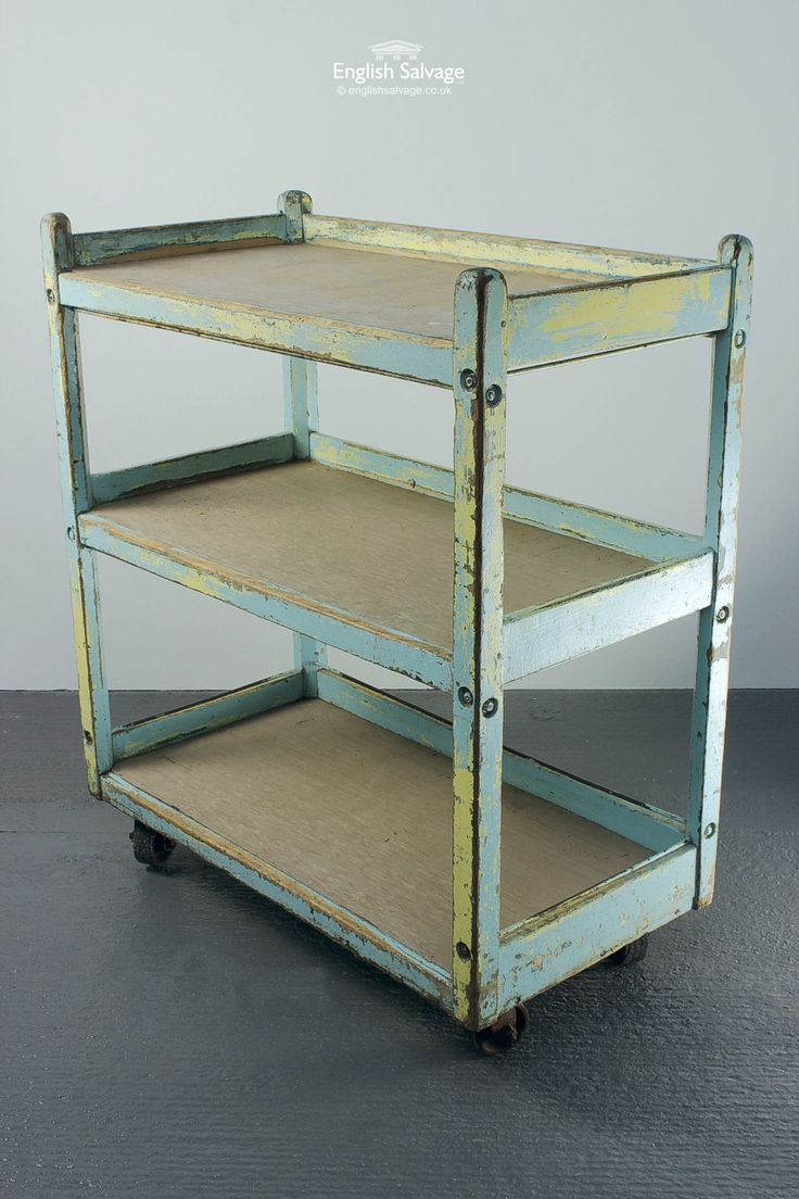 Reclaimed 3 Tier Wood Hostess Trolley