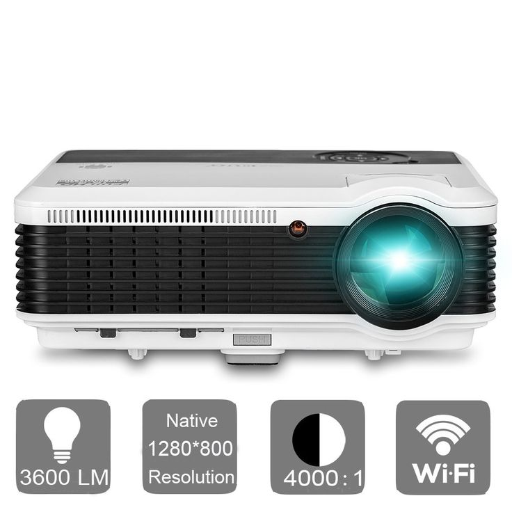 EUG LED Projector with WiFi Android 3600 Lumens LCD 1080P Projectors Wireless Connect iPhone iPad Tablet Smartphone for Home theater Cinema Movies Video Games with HDMI USB VGA Audio TV. The Android Wifi Projector allows you to wirelessly connect smartphone/tablet via Airplay/Mircast, watch YouTube or Netflix online and install popular apps. Meanwhile, it supports wired connection too, you can use the Lightning Digital AV Adapter/MHL adapter to connect your iOS/Android devices. Equipped…