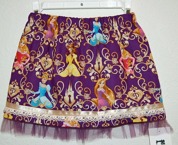 Disney Princess print girl's skirt by DaleRaeDesigns on Etsy