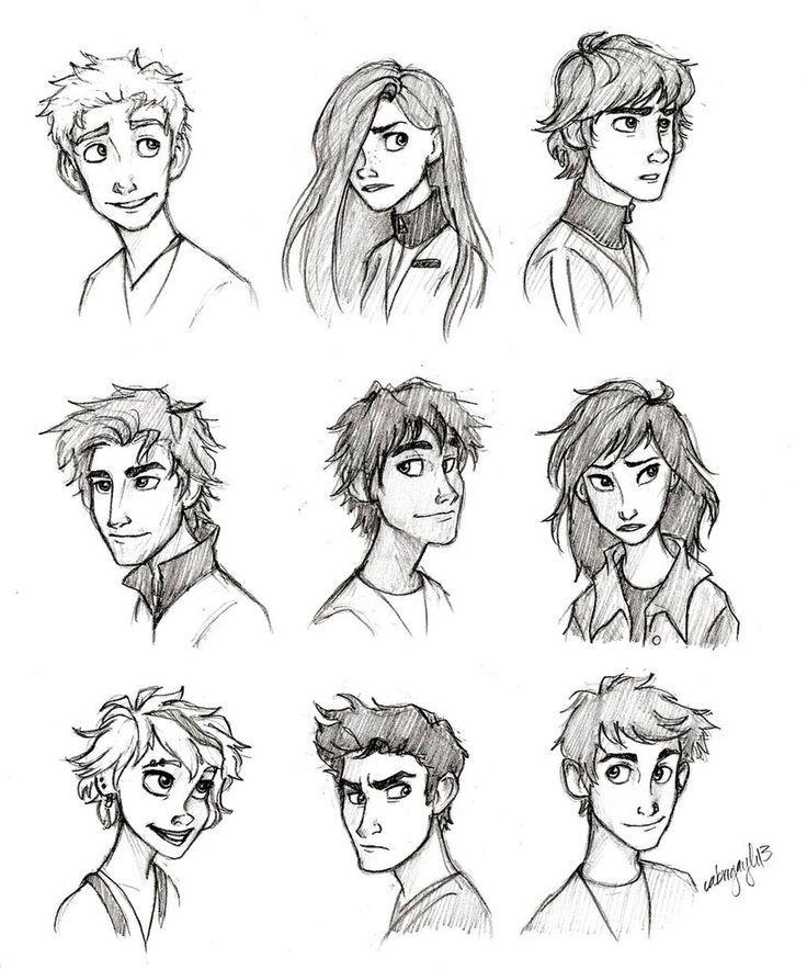 rostros Diseño de personajes, Personajes ilustracion