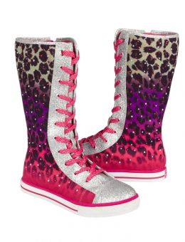 OMBRE CHEETAH MID-CALF SNEAKERS   GIRLS SHOES {PARENT_CATEGORY}   SHOP JUSTICE