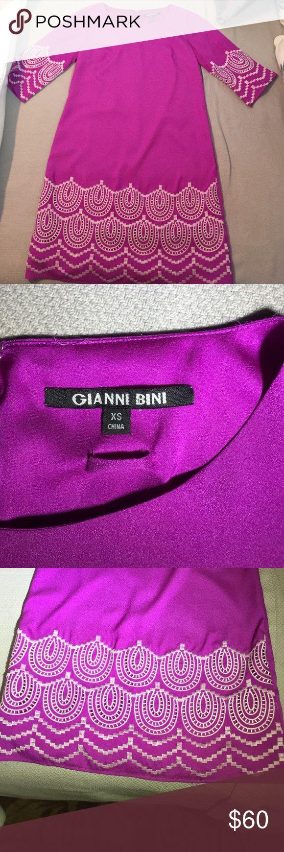 Gianni Bini purple embroidered dress, EUC Gianni Bini Purple embroidered dress, EUC Gianni Bini Dresses