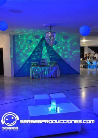 Luz Efecto Agua(Simula Agua Donde lo Desees, Ver Vídeo en Nuestra Web) Efecto Único para tu Evento    http://serbebproducciones.com/