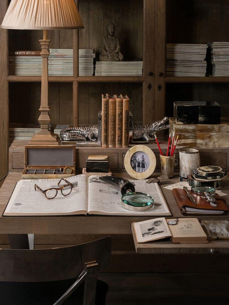 Richly styled desk top - India Jane Interiors, UK
