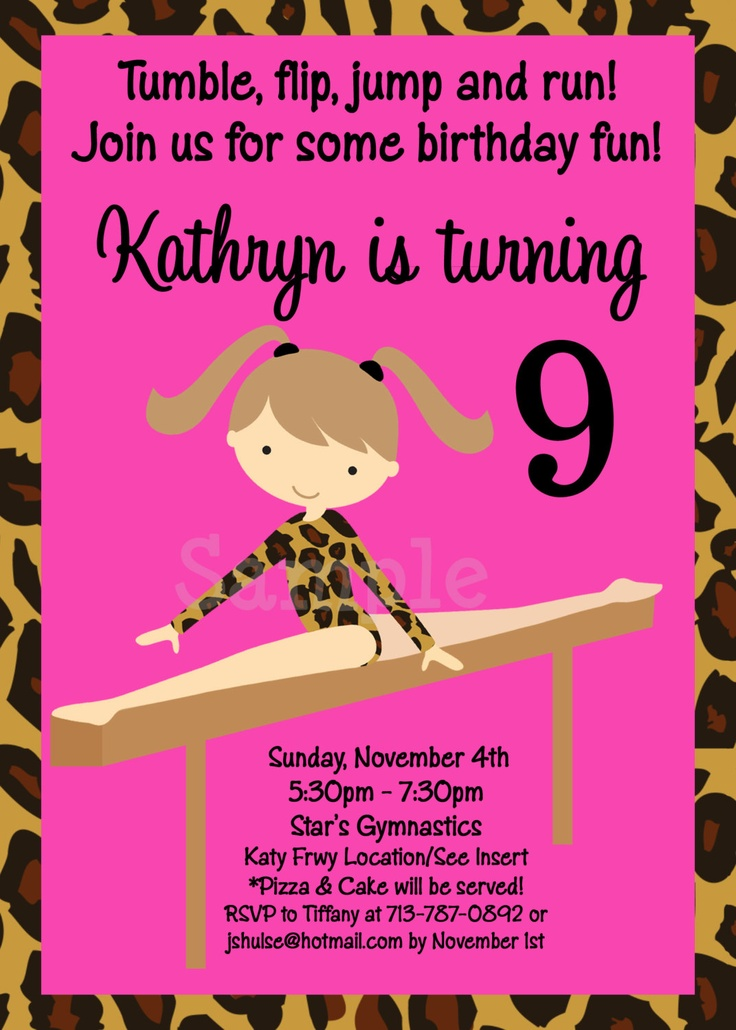 131 best Gymnastics images – Gymnastic Birthday Invitations