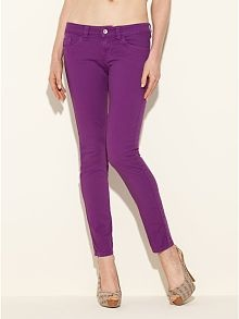 Brittney Ankle Skinny Jeans - Multi Colo  by GUESSA Mini-Saia Jeans, 1 877 44 Guess, Skinny Jeans, Multi Colors, Style, Purple Jeans, Guess Brittney, Colours Jeans, Guess Clothing