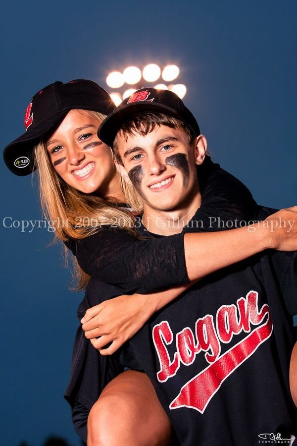 senior pic! Maybe instead with your best friend on your back? Both wearing your sports uniforms..